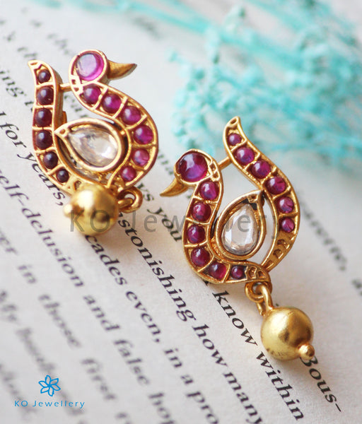 Gold Dipped Silver Earrings Under Rs.2000