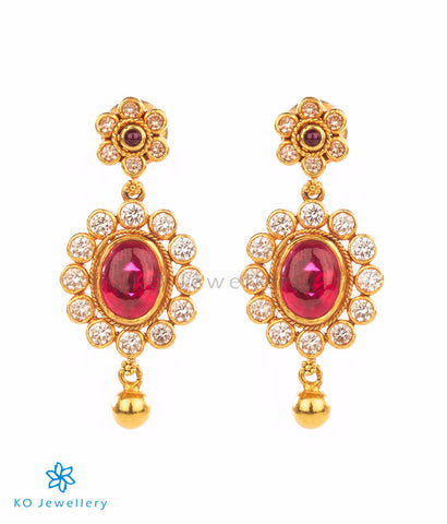 Gold dipped temple jewellery earrings
