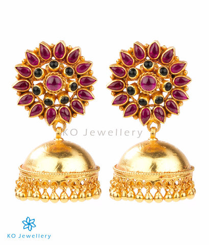 Gorgeous handcrafted gold-dipped jhumkas online