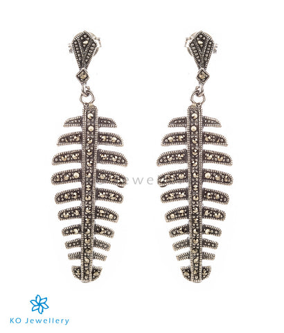 Stunning Swiss marcasite and silver earrings evening wear