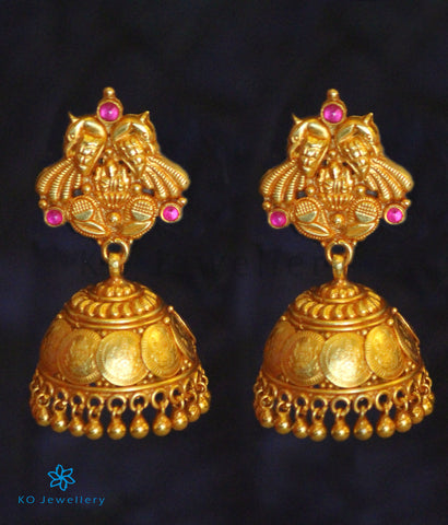 The Medhavin Silver Coin Jhumka