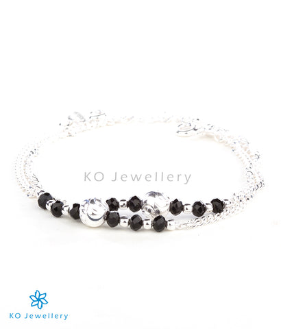 The Anaita Silver Kids Anklets