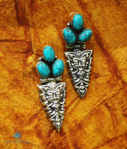 The Bhiti Silver Gemstone Earrings (Turquoise)
