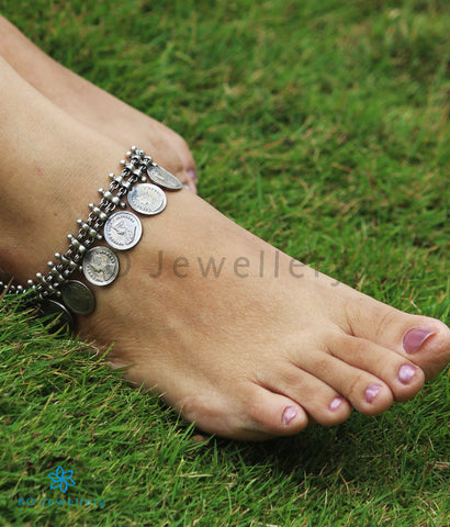 The Niska Silver Coin Anklets