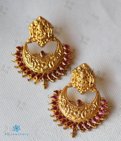 The Isha Silver Lakshmi Chand Bali Earrings