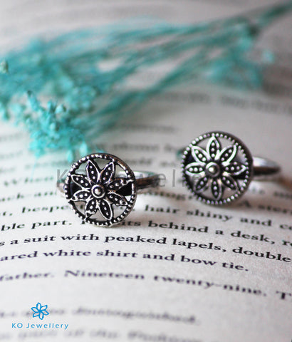 The Mandala Silver Toe-Rings