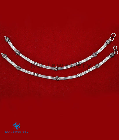 The Mandira Silver Anklets