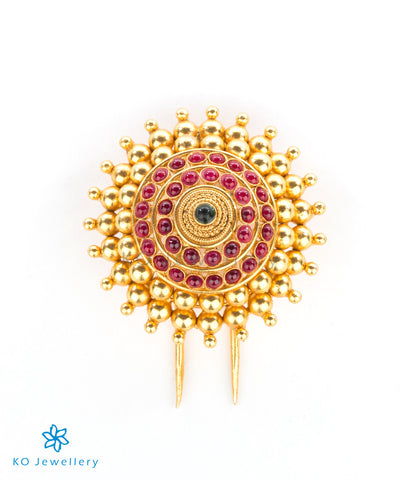The Mandala Silver Bridal Hair Pin(Small)