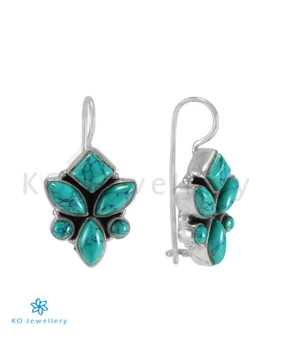 The Tarun Silver Gemstone Earrings (Turquoise)