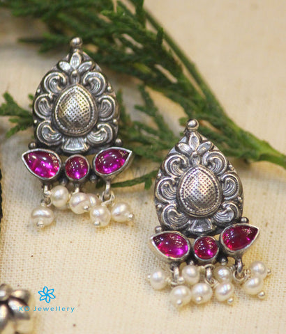 The Parijata Silver Earrings