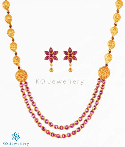 The Aparajita Silver Kempu Necklace