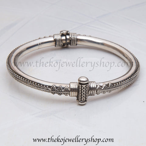 Hand crafted silver antique bangle shop online