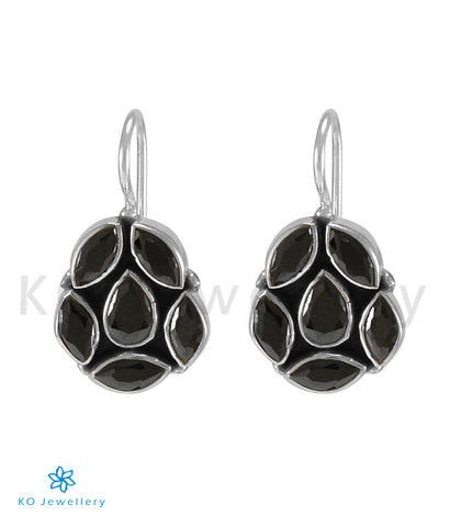 The Ritvik Silver Gemstone Earrings (Black)