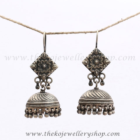 Indian ethnic sterling silver jhumka buy online