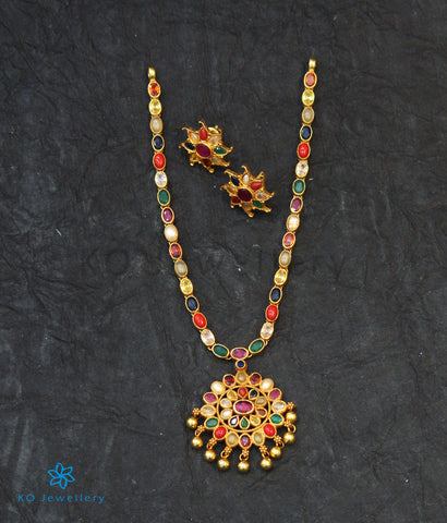 The Ekathva Silver Navarathna Necklace