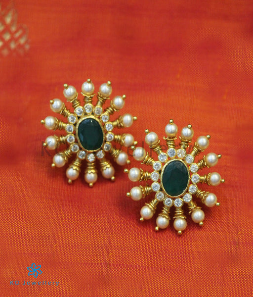 Gold Plated Pearl Jewellery in Silver - Earrings