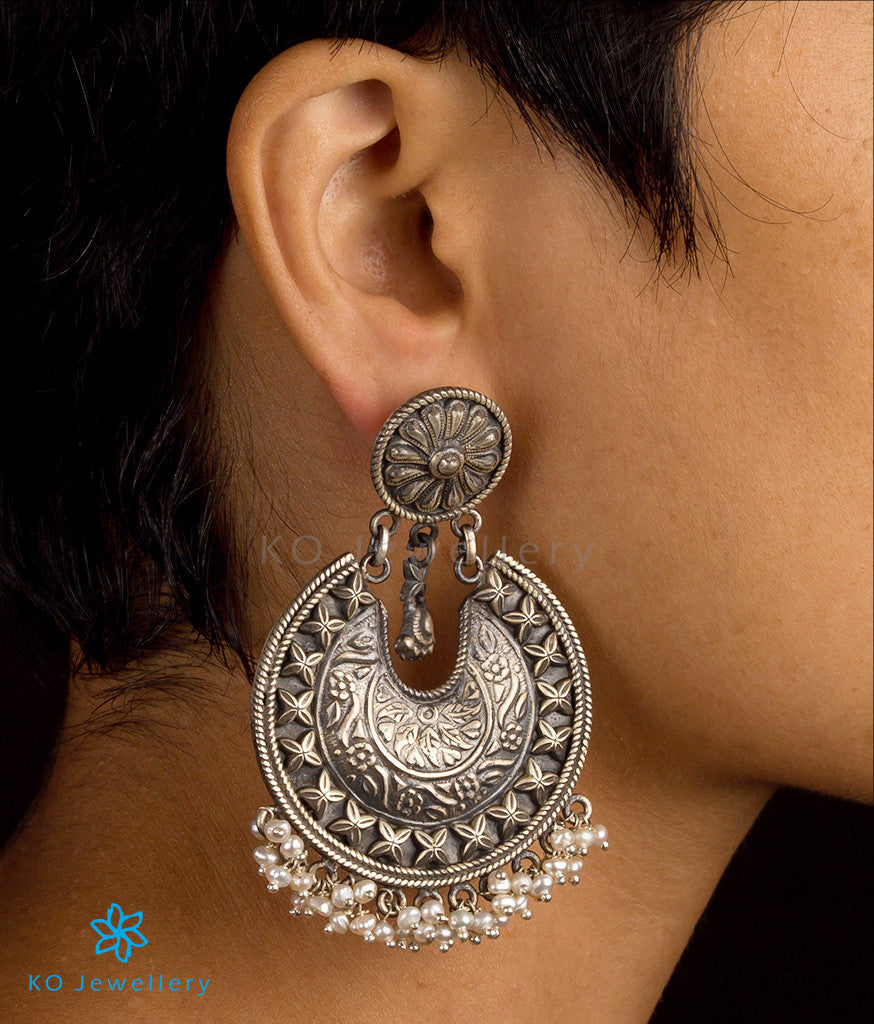 buy online finish oxidised silver jhumka jewellery earrings jewelsmart latest designs