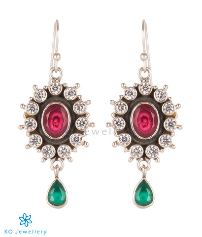 Colourful zircon and silver real gemstone jewellery India