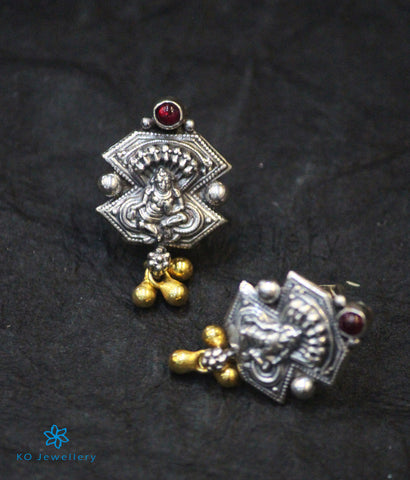 The Saket Antique Silver Ear-Studs