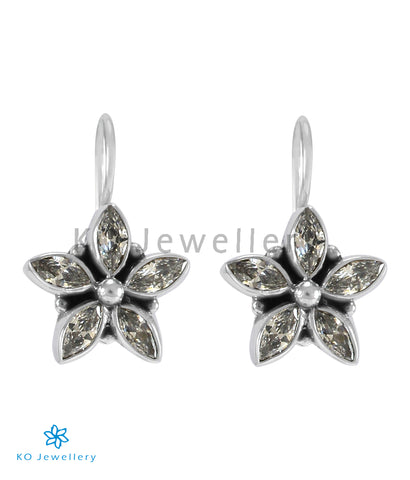 The Amita Silver Gemstone Earrings (White)