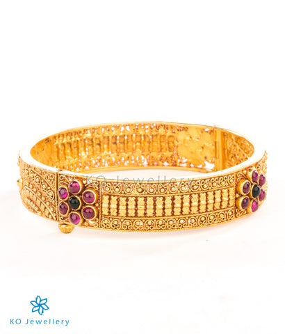 Gold dipped traditional south Indian temple jewellery bracelet