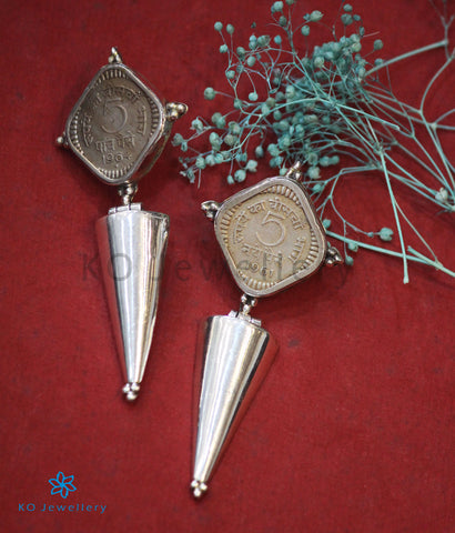 The Niska Antique-Coin Silver Earrings