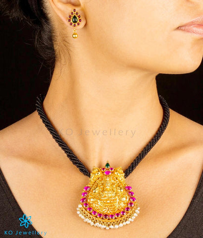 The AryaLakshmi Silver Antique Necklace