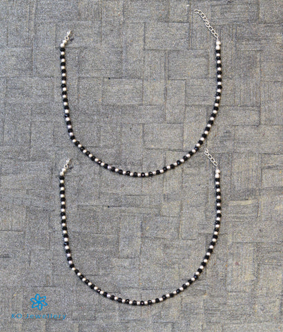 The Dhiti Silver Anklets