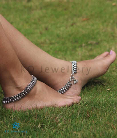 The Manmatha Silver Bridal Anklets