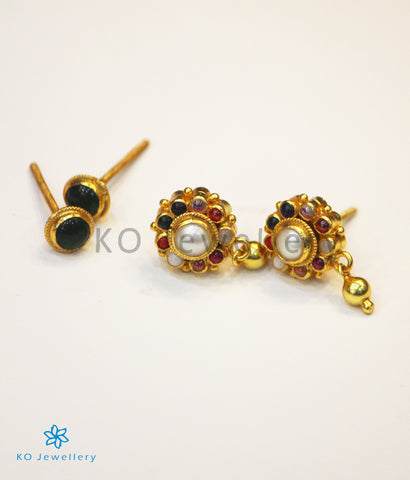 The Darsh Silver Reversible Earrings(Navratna)