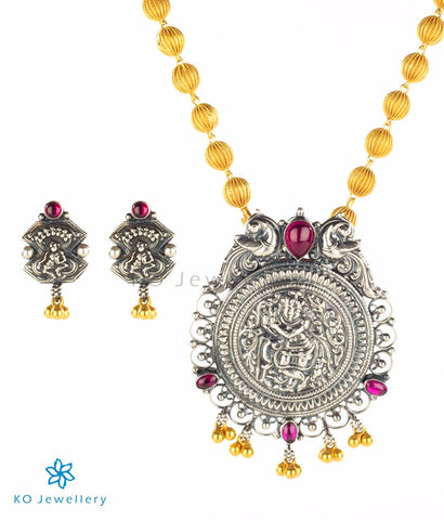 Antique finish South Indian temple jewellery set
