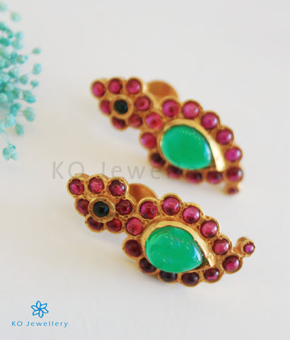 The Suvarna Silver Paisley Earrings
