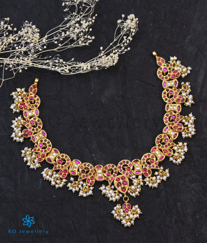 The Nazrana Silver Kundan-Jadau Peacock Necklace.