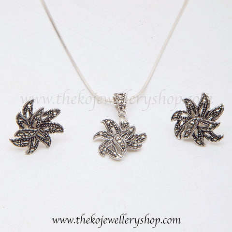 Online shopping pure silver Pendant Set for women