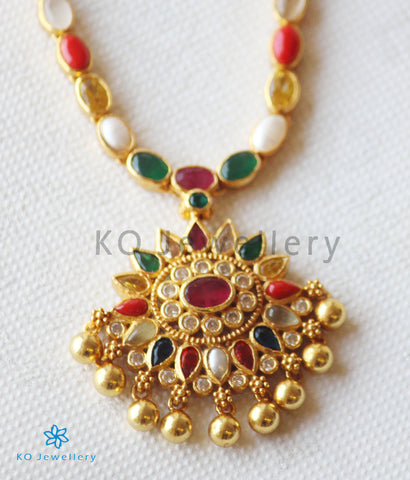 The Kshama Silver Navarathna Necklace