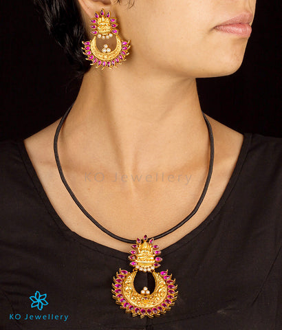 Stunning pendant set gold plated South Indian temple jewellery