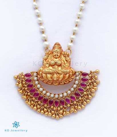 The Pushpalakshmi Silver Pendant