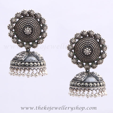 The Abani Silver Antique Jhumka