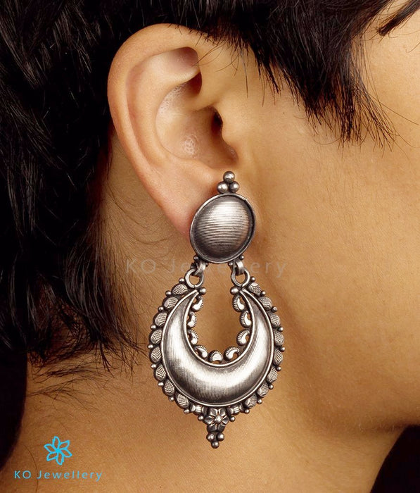 Stunning oxidised silver temple earrings