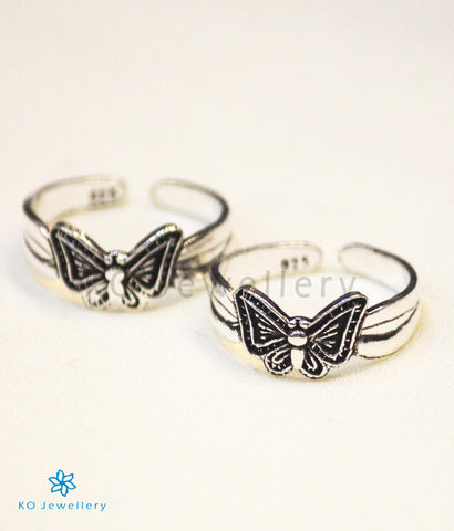 The Butterfly Silver Toe-Rings
