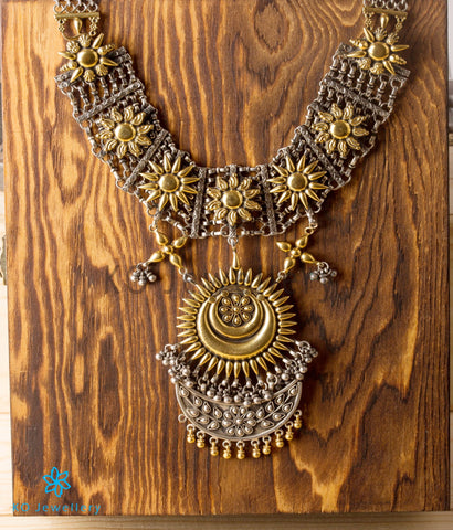 The Mohin Silver Necklace (Two-Tone)