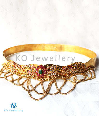 The Nartaka Silver Oddiyanam Waist belt