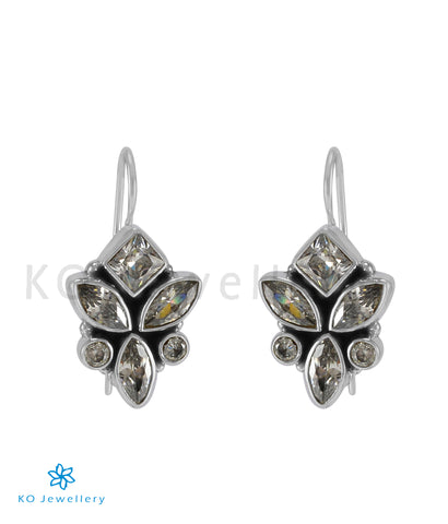 The Tarun Silver Gemstone Earrings (White)
