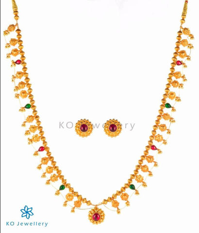 Gold dipped bridal temple jewellery from Maharashtra