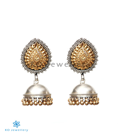 The Mihira Silver Jhumka (Two-tone)