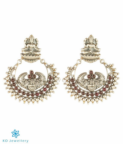 The Dharaa Silver Chand-bali Earrings (Oxidised)