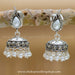 925 sterling silver swan jhumka  jewellery for women