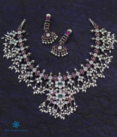 The Smriti Silver Guttapusalu Necklace