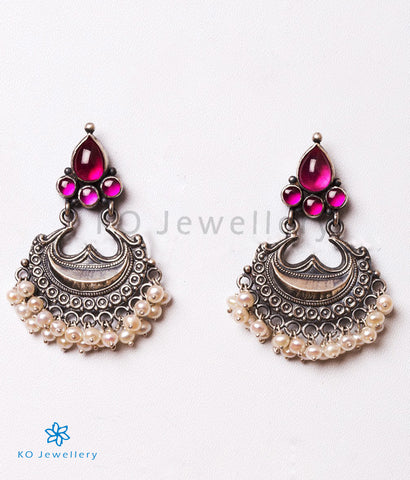 The Alankrita Silver Earrings(Oxidised)