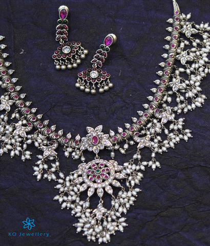 The Sarisha Silver Guttapusalu Necklace